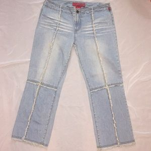 Hot Kiss Ankle Length Distressed Denim 💐 Size 27